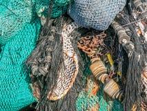 Fishing nets and equipment Stock Photo