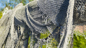 Fishing nets and fish traps stock image