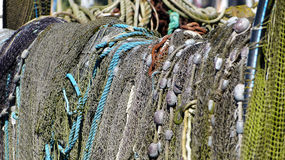 Fishing nets and fish traps royalty free stock images
