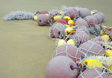 Fishing nets and fishing floats Stock Photography