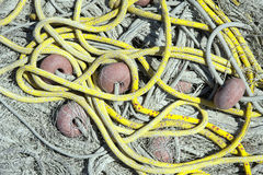 Fishing nets and fishing floats Royalty Free Stock Images