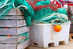 Fishing nets. Fishing industry. Stock Photos
