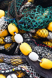 Fishing nets and floats Stock Photo