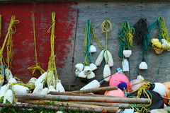 Fishing nets and floats Stock Photography