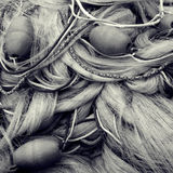 Fishing nets and floats Royalty Free Stock Image