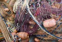 Fishing nets and floats Royalty Free Stock Photos