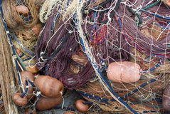 Fishing nets and floats Royalty Free Stock Photo