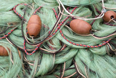 Fishing nets and floats Royalty Free Stock Images