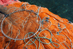 Fishing nets with floats Stock Images