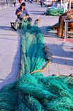 Fishing nets in Genoa Royalty Free Stock Image