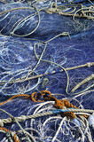 Fishing nets. At the harbor Royalty Free Stock Images
