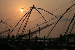 Fishing nets. India. Stock Photos