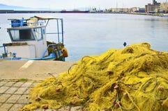 Fishing nets at Kalamata Greece Royalty Free Stock Image