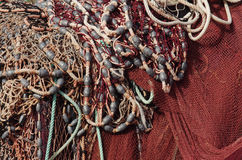 Fishing Nets and Led Weights Stock Photos