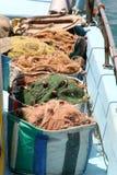 Fishing nets. Limassol, Cyprus Royalty Free Stock Images