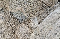 Fishing nets' maintenance Stock Photography