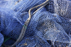 Fishing nets on Mallorca Stock Photography