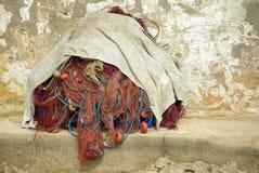Fishing nets piled Royalty Free Stock Image