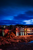 Fishing Nets On The Port In The Night Stock Image