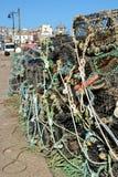Fishing nets and pots at Saint Ives, Cornwall, England Royalty Free Stock Photos