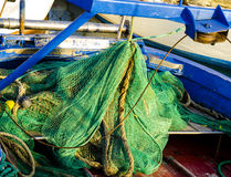 Fishing nets on the quay Stock Image