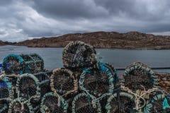 Fishing pots ready for season stock photography