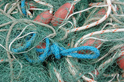 Fishing nets and rope Royalty Free Stock Photography