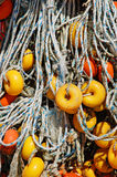 Fishing nets and ropes Stock Image