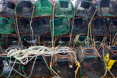 Fishing nets 3. Several fishing nets in an Asturian port Royalty Free Stock Photography