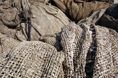Fishing nets with shells Royalty Free Stock Photo