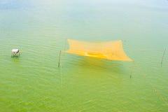 Fishing nets on the Thu Bon River near Hoi An Stock Image