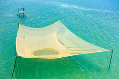 Fishing nets on the Thu Bon River near Hoi An Stock Photos