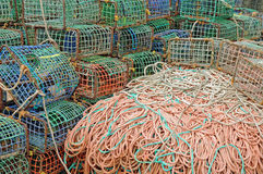 Fishing nets and traps Royalty Free Stock Image