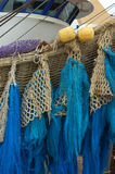 Fishing nets on trawler stock photography