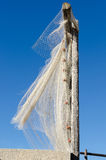Fishing nets in the wind Stock Photos