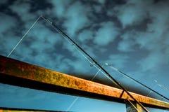 Fishing at night Stock Photo