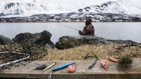 Fishing in Norway Royalty Free Stock Image