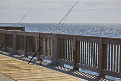 Fishing off the Pier Royalty Free Stock Photography