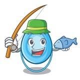 Fishing oxygen mask mascot cartoon. Vector illustration Stock Images