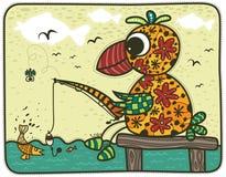 Fishing parrot Stock Photo
