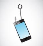 Fishing a phone illustration design Royalty Free Stock Photos