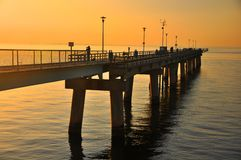 Fishing pier Stock Image