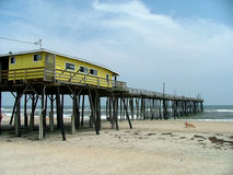 Fishing pier. A fishing pier on the Caroline Outer Banks royalty free stock photography