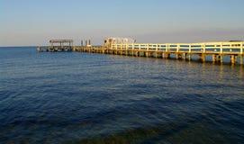 Fishing pier. At sunset in pine island,florida Stock Image
