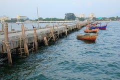 Fishing Pier. In Bangsean ,Thailand Royalty Free Stock Images