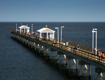 Fishing Pier. A fishing pier with people fishing and crabbing Stock Photography