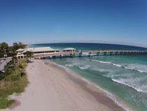 Fishing pier aerial view Stock Image