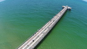 Fishing pier aerial view Royalty Free Stock Image