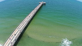 Fishing pier aerial view Stock Images