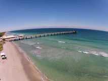 Fishing pier aerial view Royalty Free Stock Photography